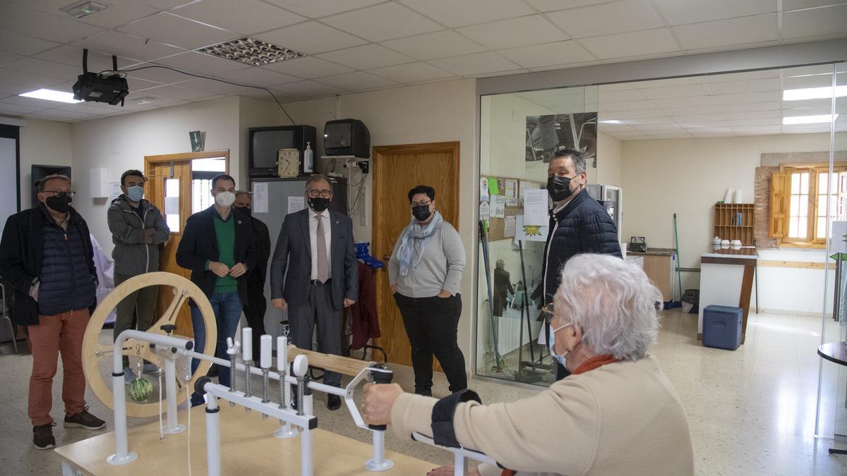 Uno de los municipios del Palancia que ha visitado este viernes el presidente de la Diputación fue Vall de Almonacid.