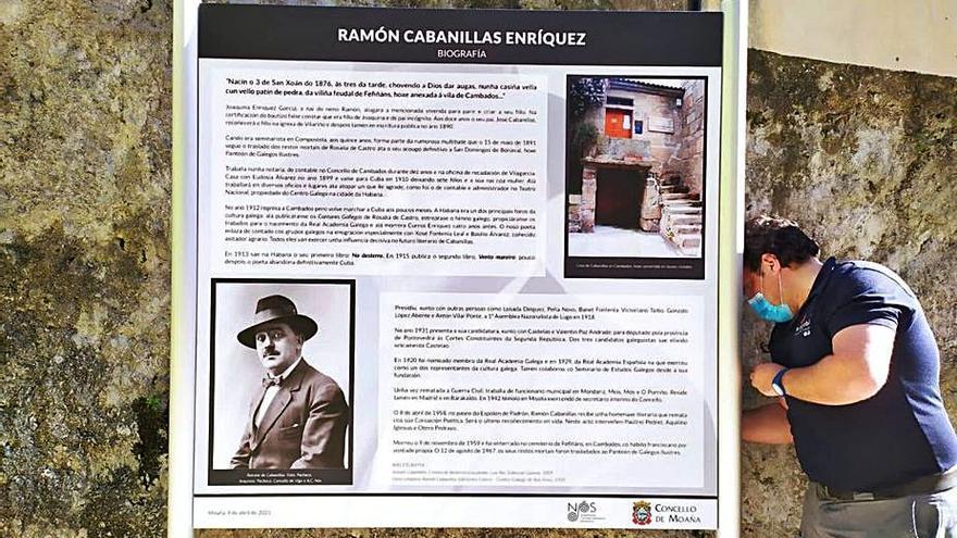 Moaña recordará, a través de varios paneles, la relación del poeta Ramón Cabanillas con la villa