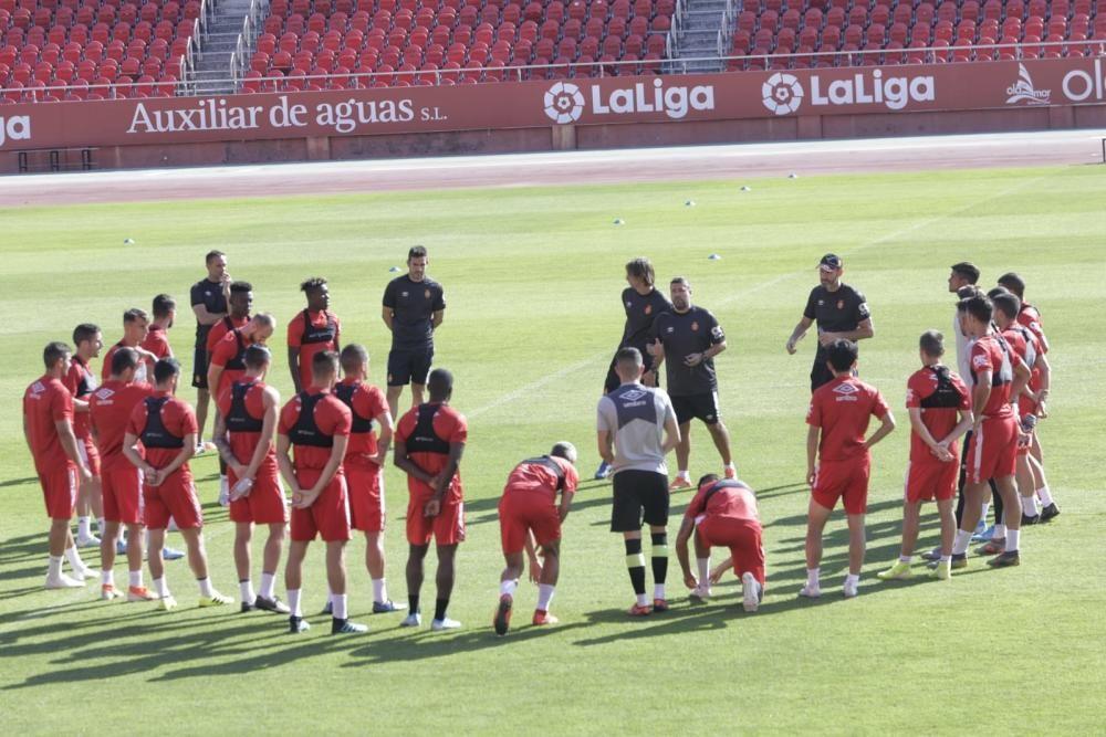 Primer entrenamiento de Kubo con el Mallorca