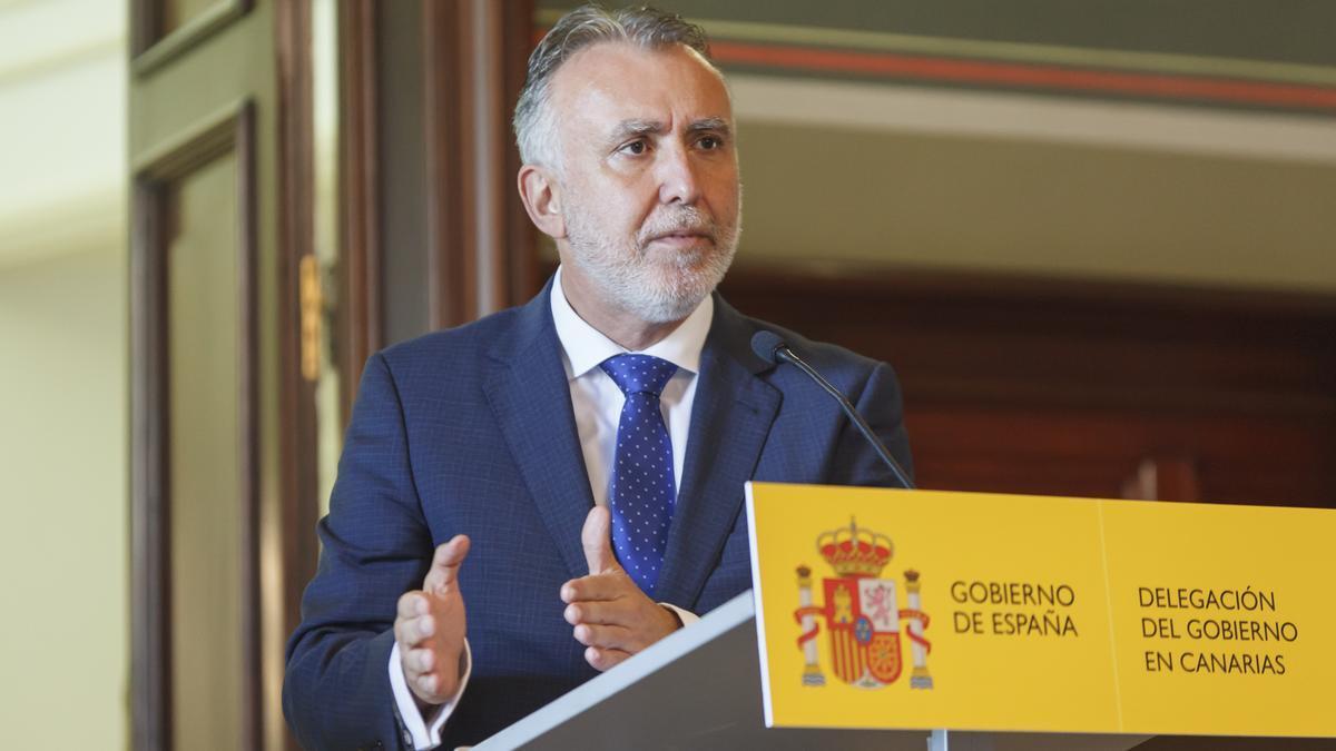 Foto: Ángel Víctor Torres afirma que Canarias se niega rotundamente a recibir el 100% de la migración que reciben las islas