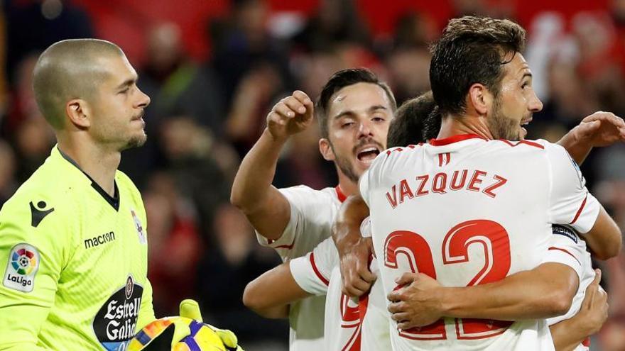 El Sevilla vence y encarece la Champions