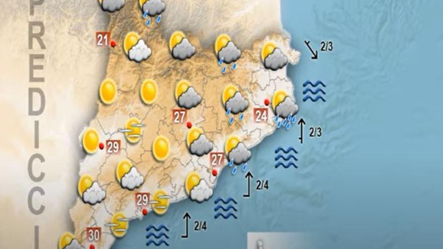 Descens de les temperatures per a un diumenge amb un ambient més assolellat