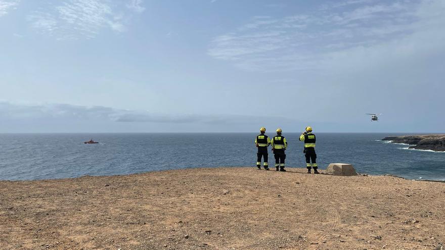 Labores de búsqueda del buceador desaparecido en Fuerteventura