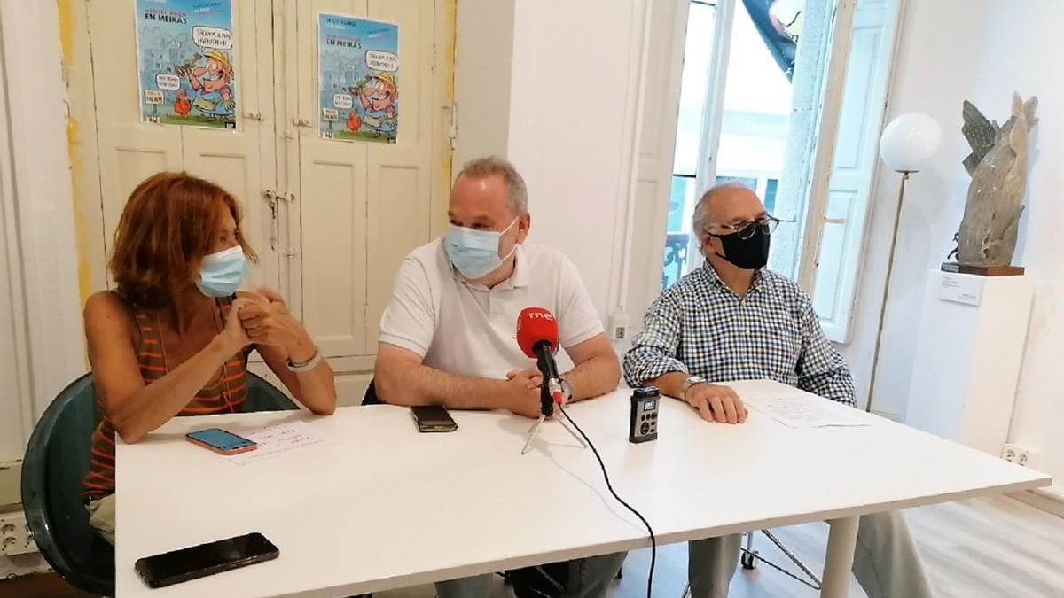 Imagen de la rueda de prensa de hoy en Alexandre Bóveda