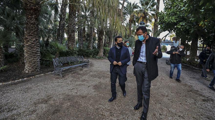 El alcalde reclama ayuda a Marzà porque Elche «ya no puede hacer más esfuerzos» por el Palmeral