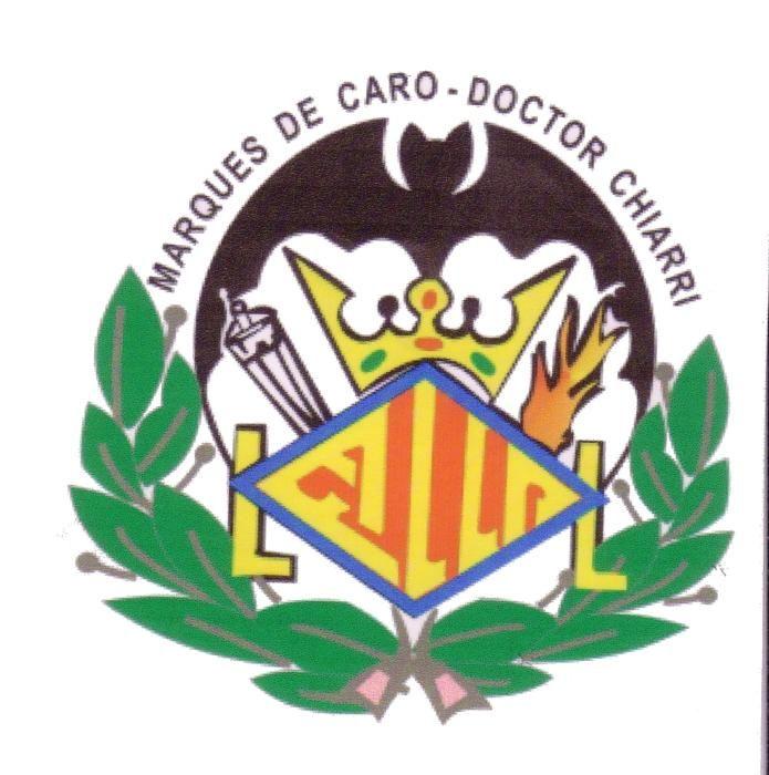 """Marqués de Caro-Dr. Chiarri. Las barras del escudo de València se convierten en la palabra """"Falla"""""""