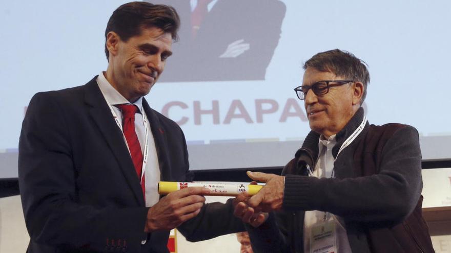 Raúl Chapado, presidente de la Federación de Atletismo