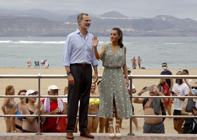 Los reyes visitan Las Palmas de Gran Canaria