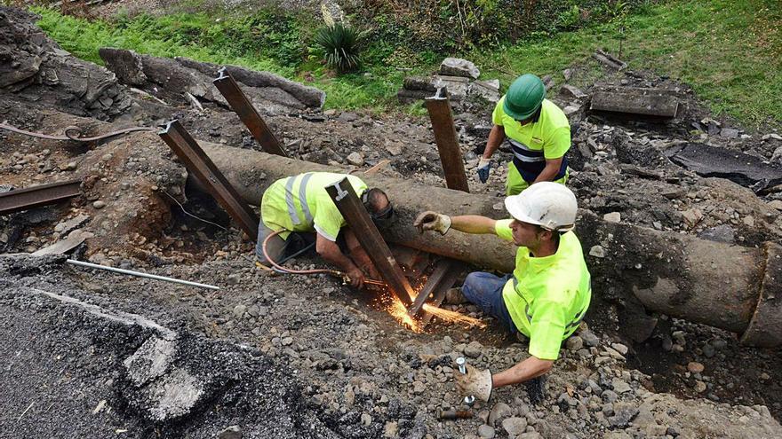 La renovación de la traída de agua en Mieres suma 40 millones de inversión en 25 años