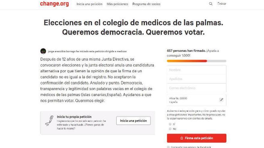 Casi 700 firmas piden elecciones en el Colegio de Médicos de Las Palmas