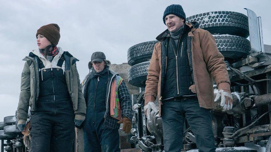 'The ice road': Neeson perdido en el hielo