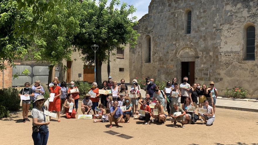 Una quarantena de pintors a la primera trobada d'Urban Sketchers de Vilanova de la Muga