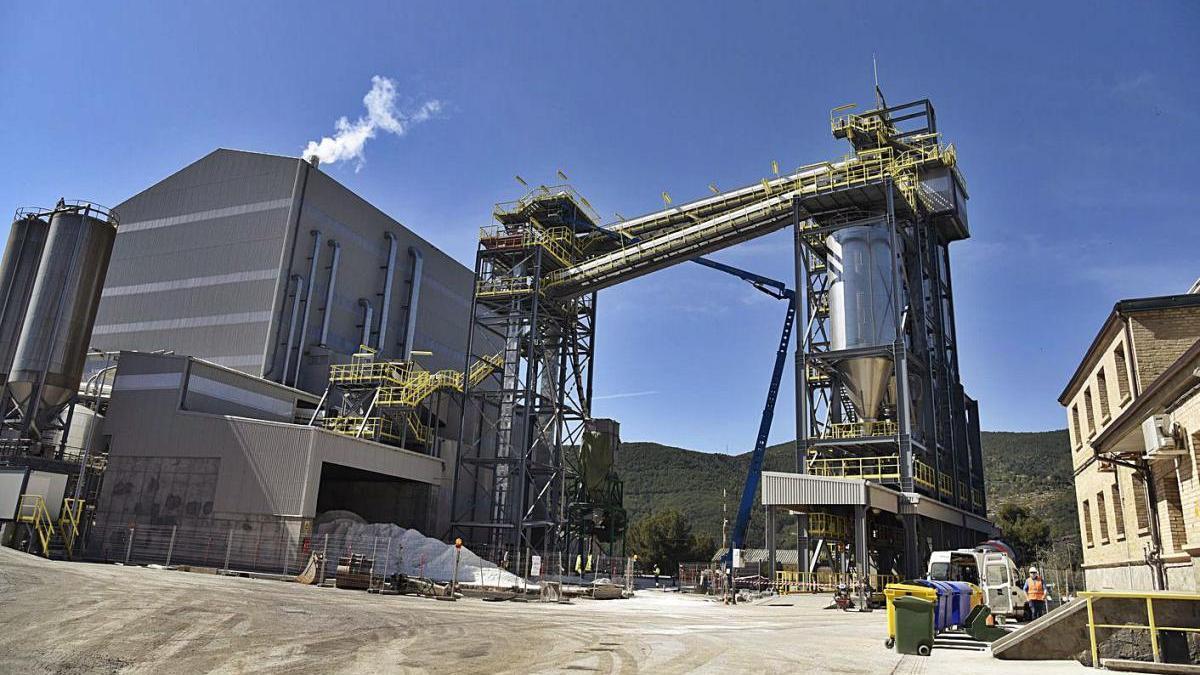 Vistes de la nova planta de sal d'ICL a les mines de Súria