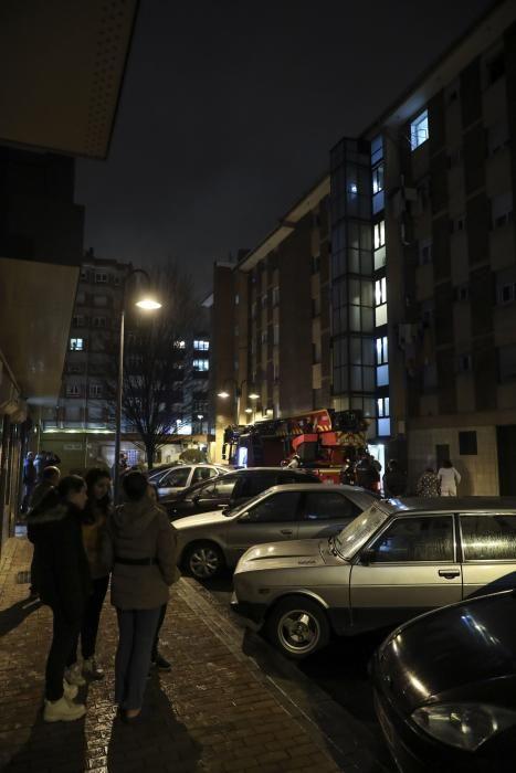 Incendio en la calle Puerto Rico, en La Calzada