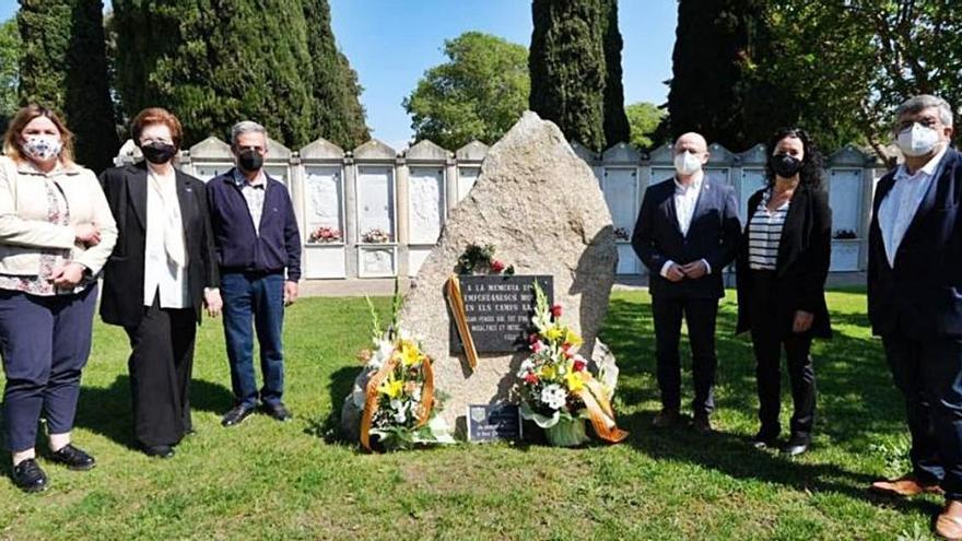 Record al cementiri de Figueres als deportats als camps nazis
