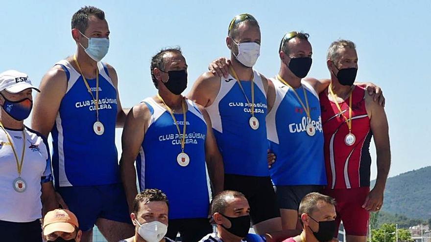 Los palistas de la Ribera se cuelgan 22 medallas en el canal de Castelldefels