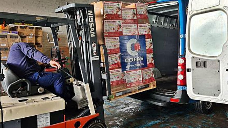 Cofas colabora con los bancos de alimentos