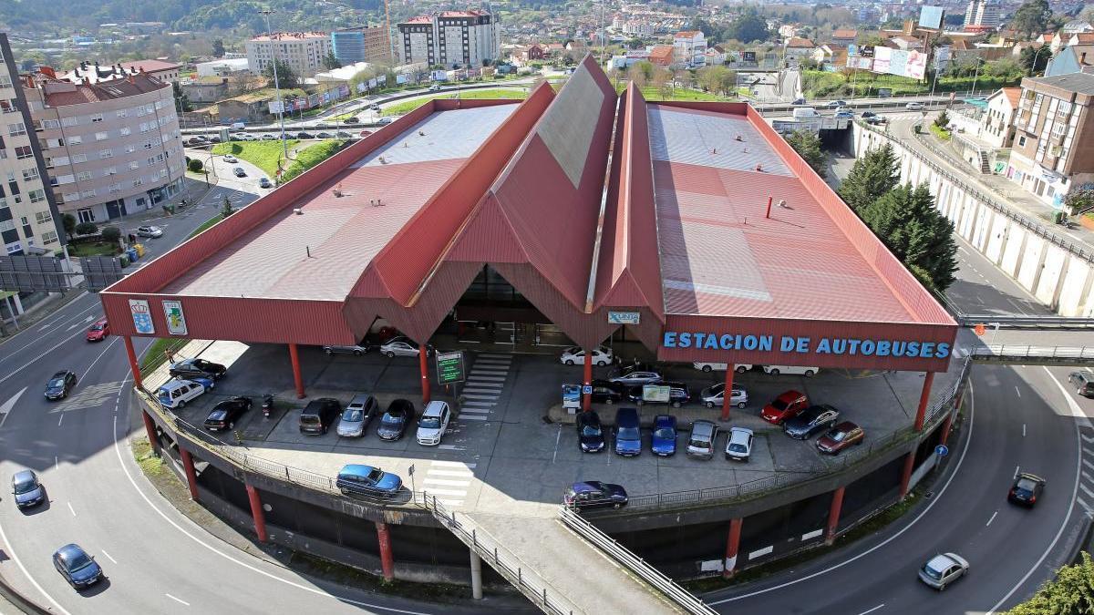 Vista de la estación de autobuses de Vigo. // Marta G. Brea
