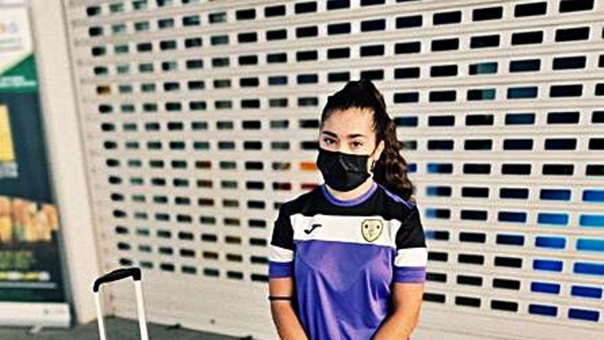 Sara Canet, en la concentración de la selección de España previa al Europeo
