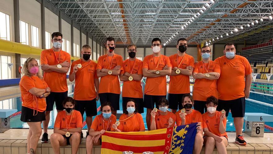 La selección de natación adaptada, una selección de oro puro