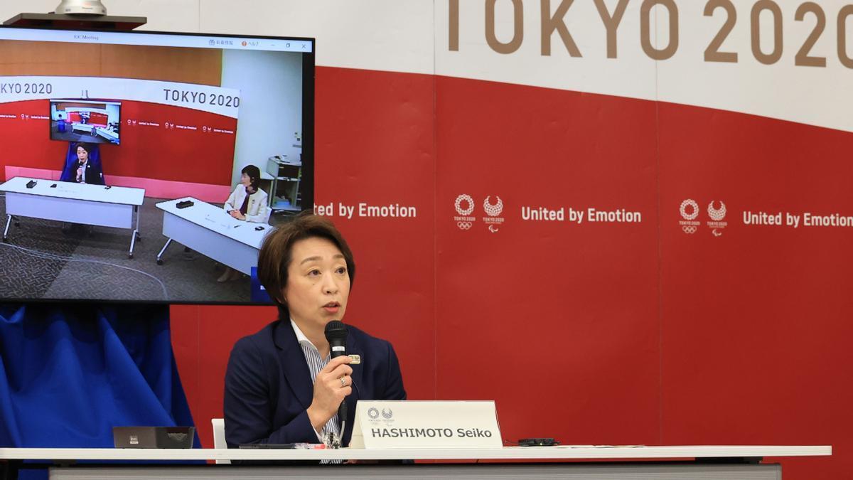 La presidenta de Tokio 2020, Seiko Hashimoto.