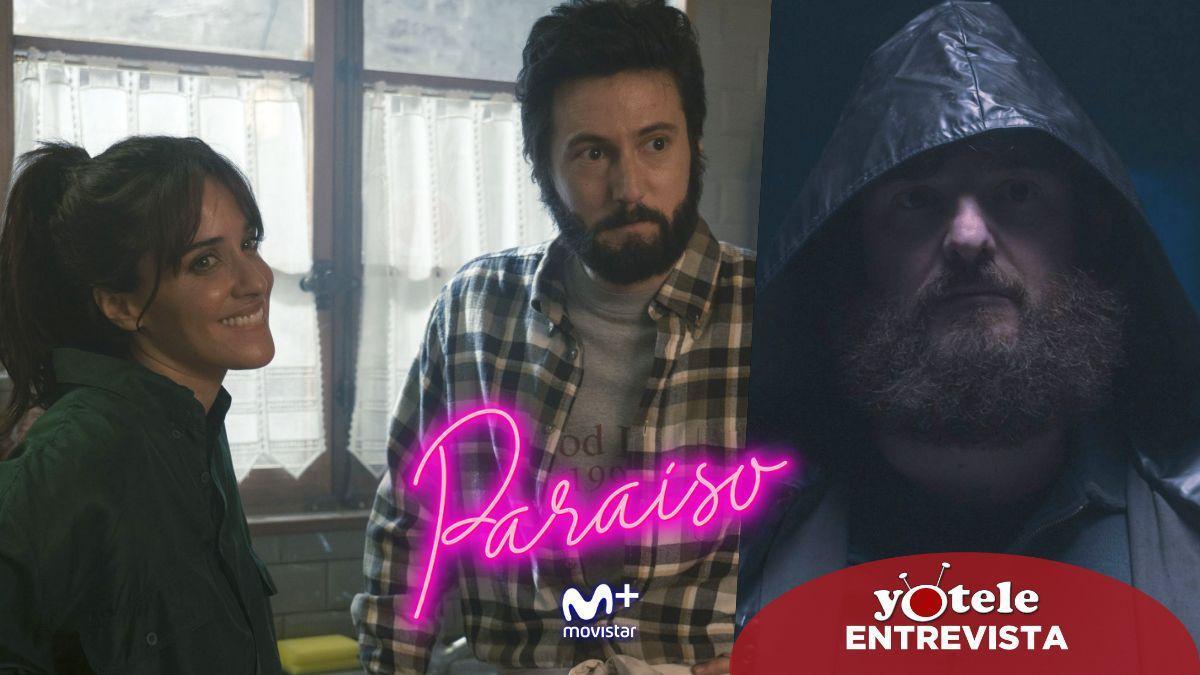 """Macarena García, Iñaki Ardanaz y Gorka Otxoa: """"'Paraíso' es una serie bastante novedosa, arriesgada y atrevida""""."""