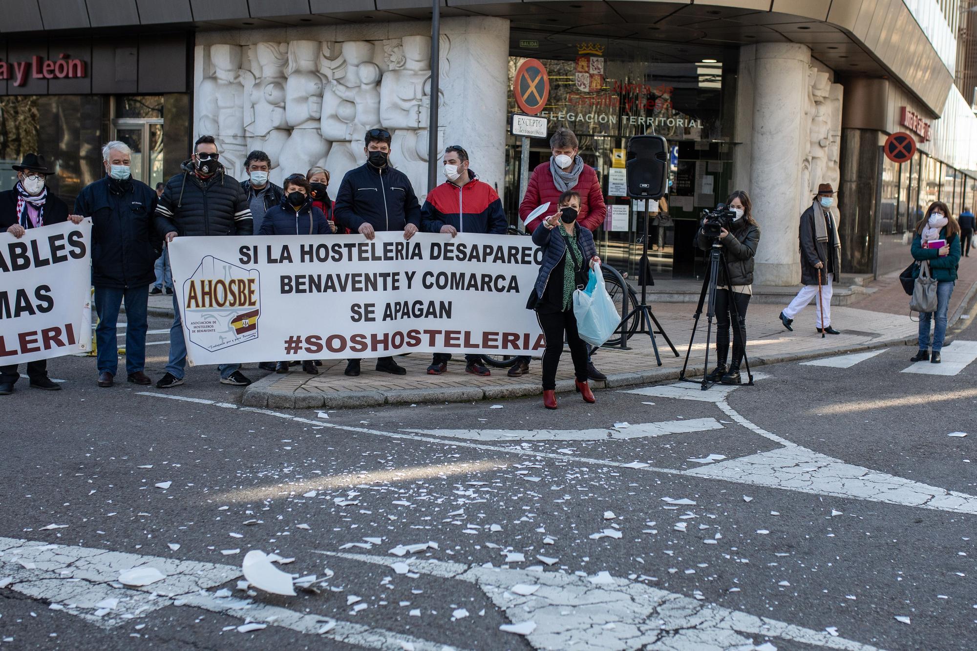 GALERÍA | Las mejores imágenes de la movilización de los hosteleros de Zamora