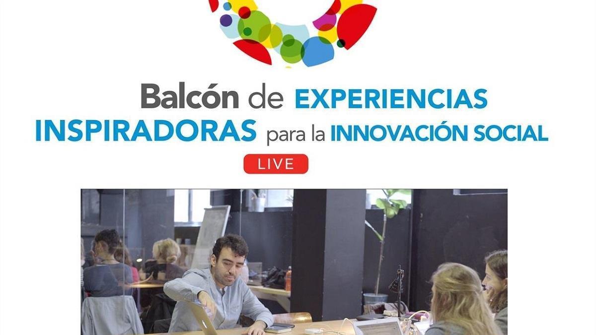 Cartel de 'El Balcón de Experiencias Inspiradoras'.