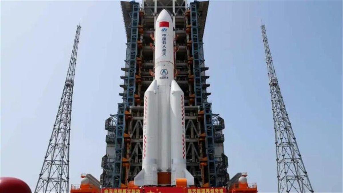 Imagen del lanzamiento del cohete chino.