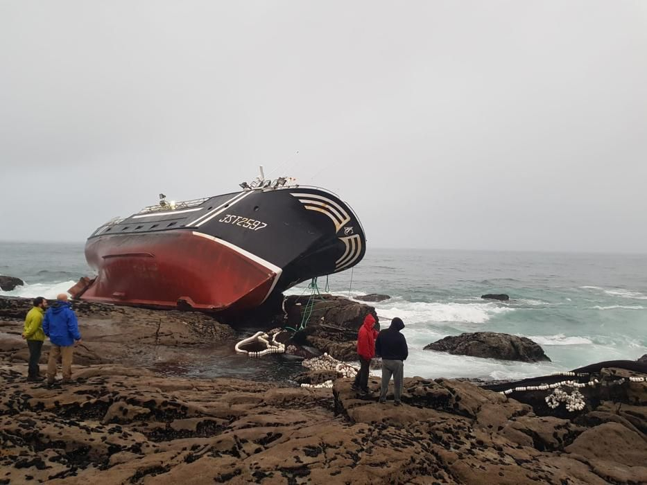 El barco quedó embarrancado