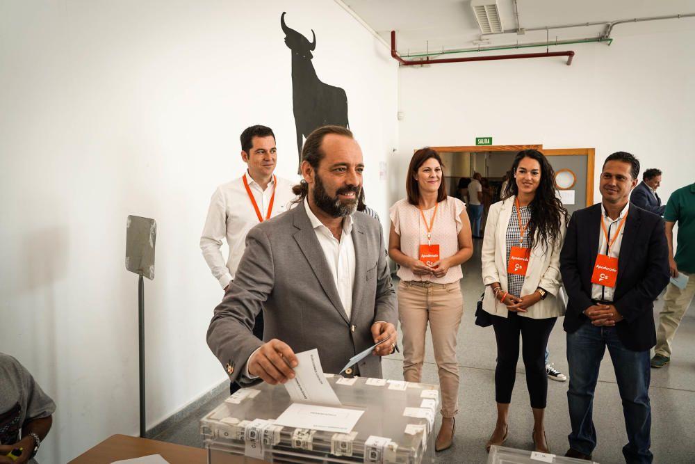 Juan Cassa (Cs) votó en Parque Clavero