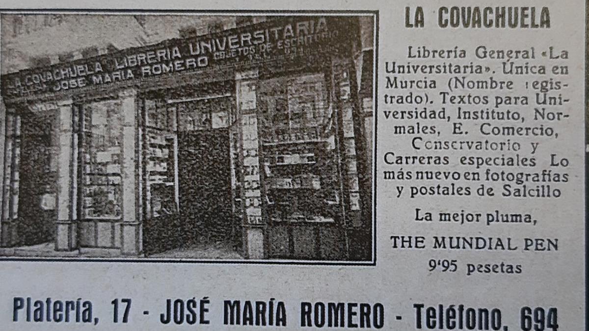1917: la única librería universitaria de Murcia
