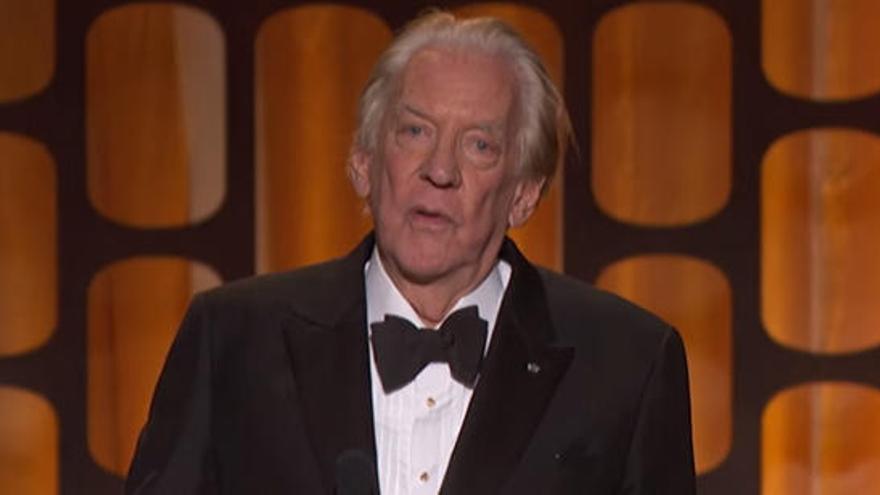 Donald Sutherland será distinguido con un Premio Donostia