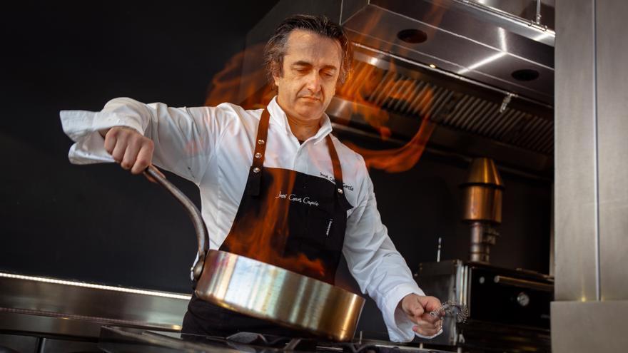 José Carlos García presenta un menú especial para dar a conocer su cocina