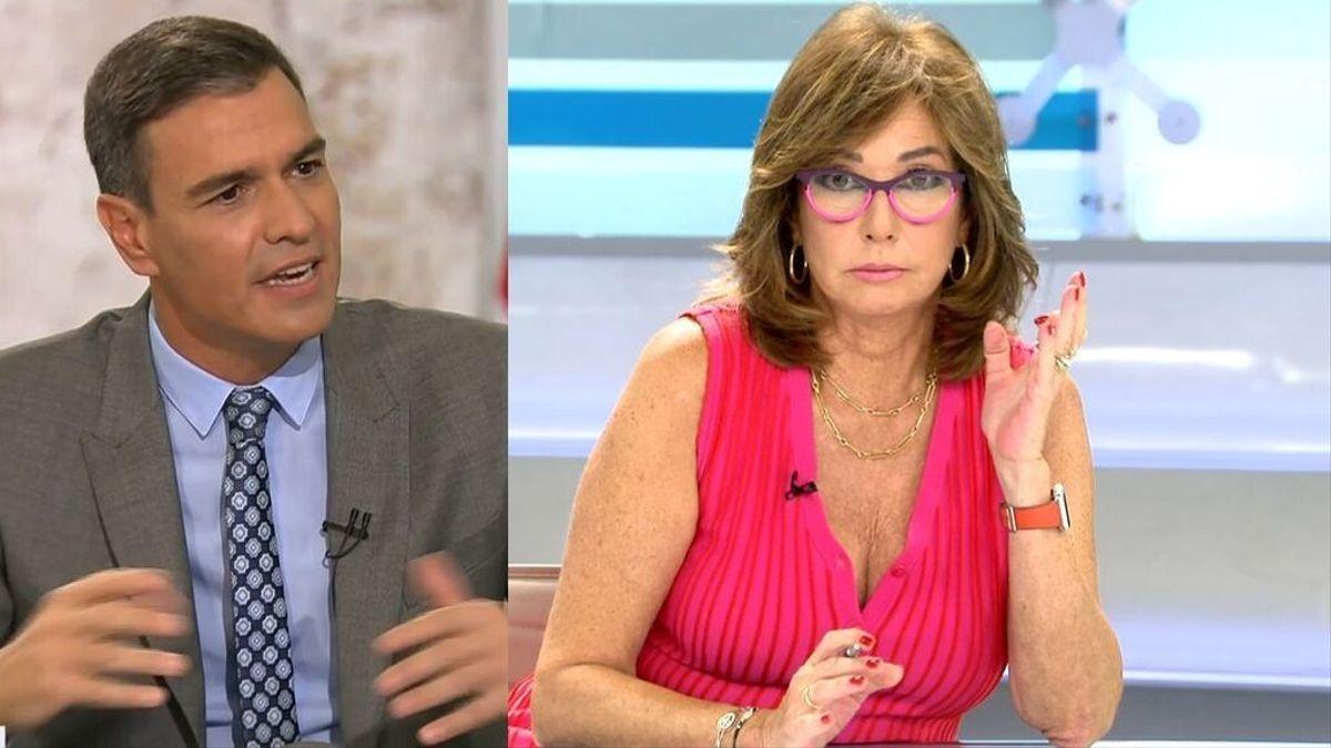 Ana Rosa critica a Pedro Sánchez.