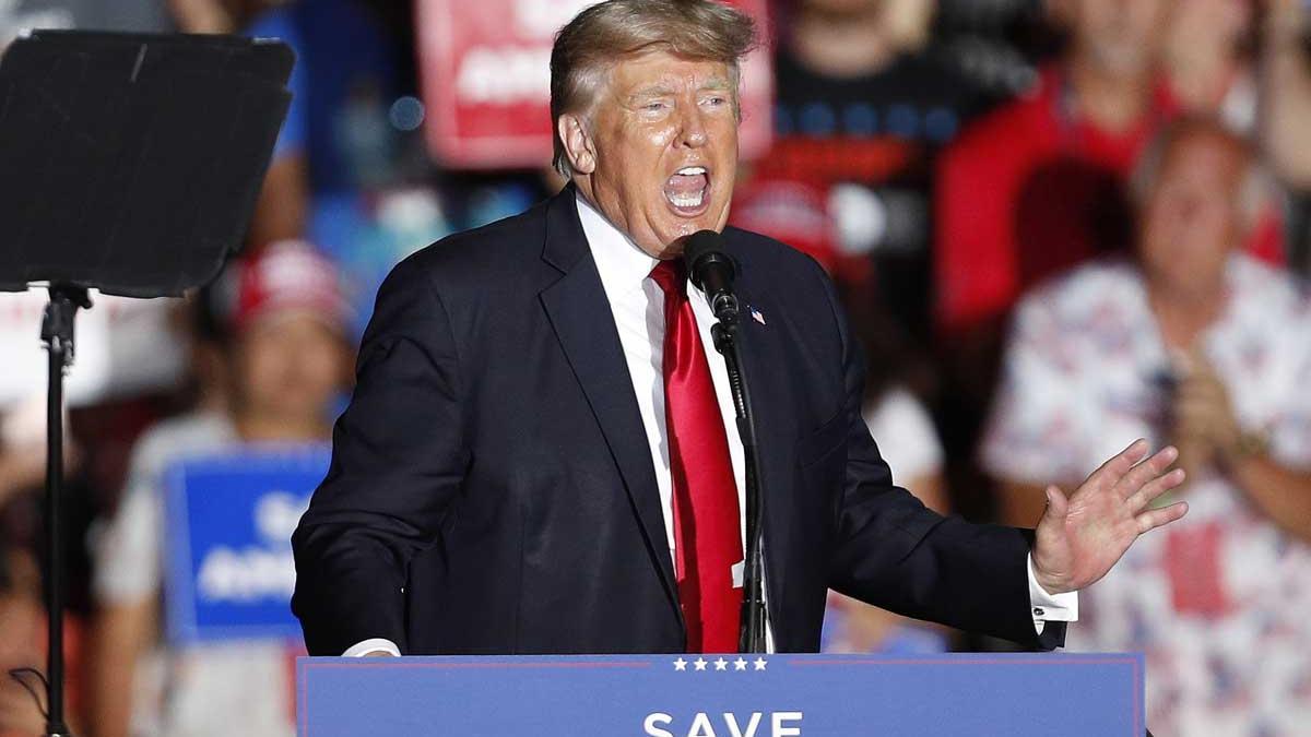 Donald Trump, durante su intervención en Ohio.