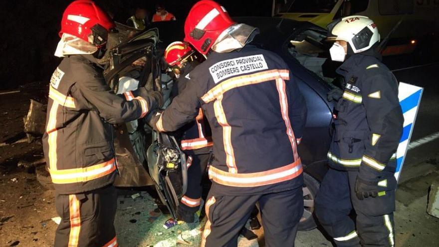 Accidente de tráfico en Culla: Un muerto tras el choque frontal de dos coches