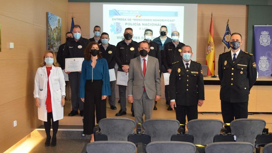 La Policía Nacional de Zamora aplaude la labor de los vigilantes de los hospitales