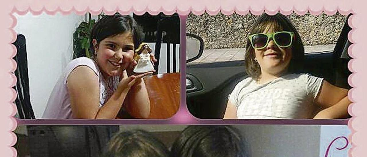 Amets y Sara, en distintas imágenes en un montaje realizado por su madre.