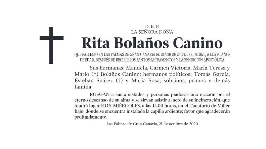 Rita Bolaños Canino