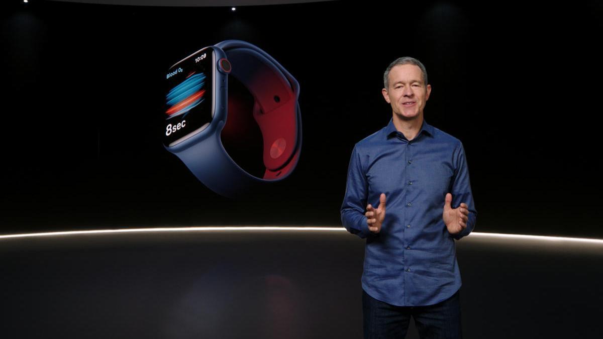 Un momento de la presentación de los Apple Watch Series 6.