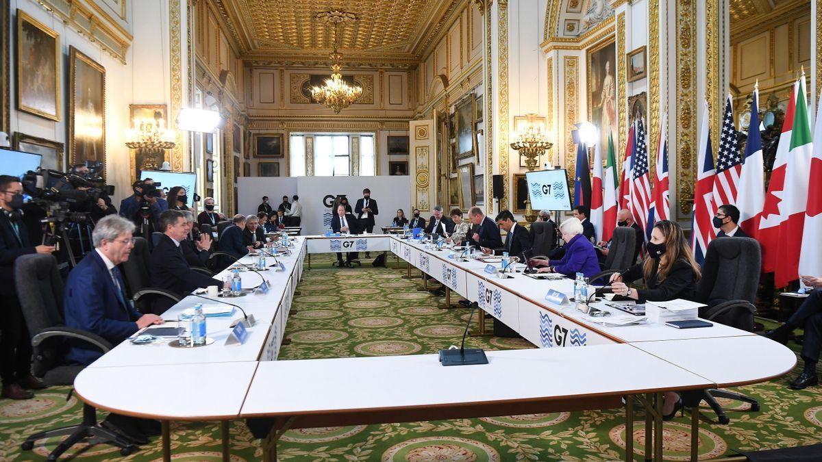 Los ministros del G7 en su reunión en Londres.
