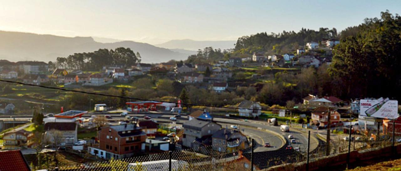 Vista de la parroquia de Tameiga, en Mos. |   // D.P.