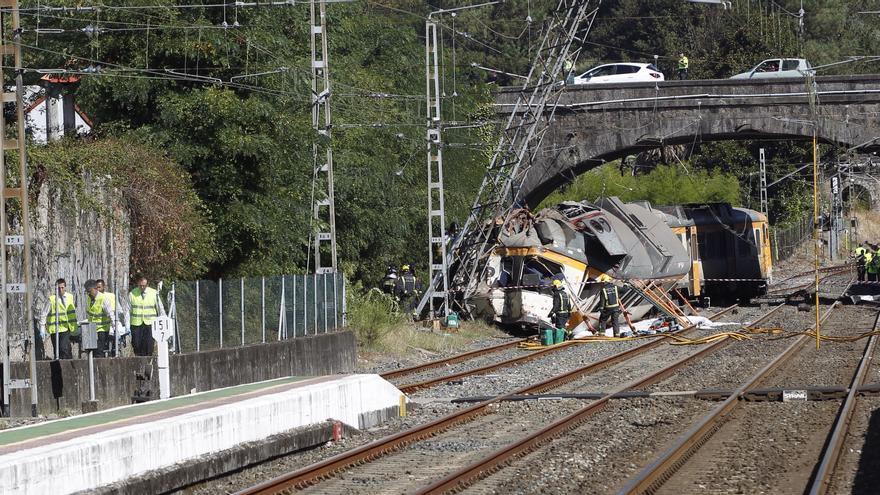 El Juzgado de O Porriño concluye que el accidente del Tren Celta se debió a un exceso de velocidad del maquinista