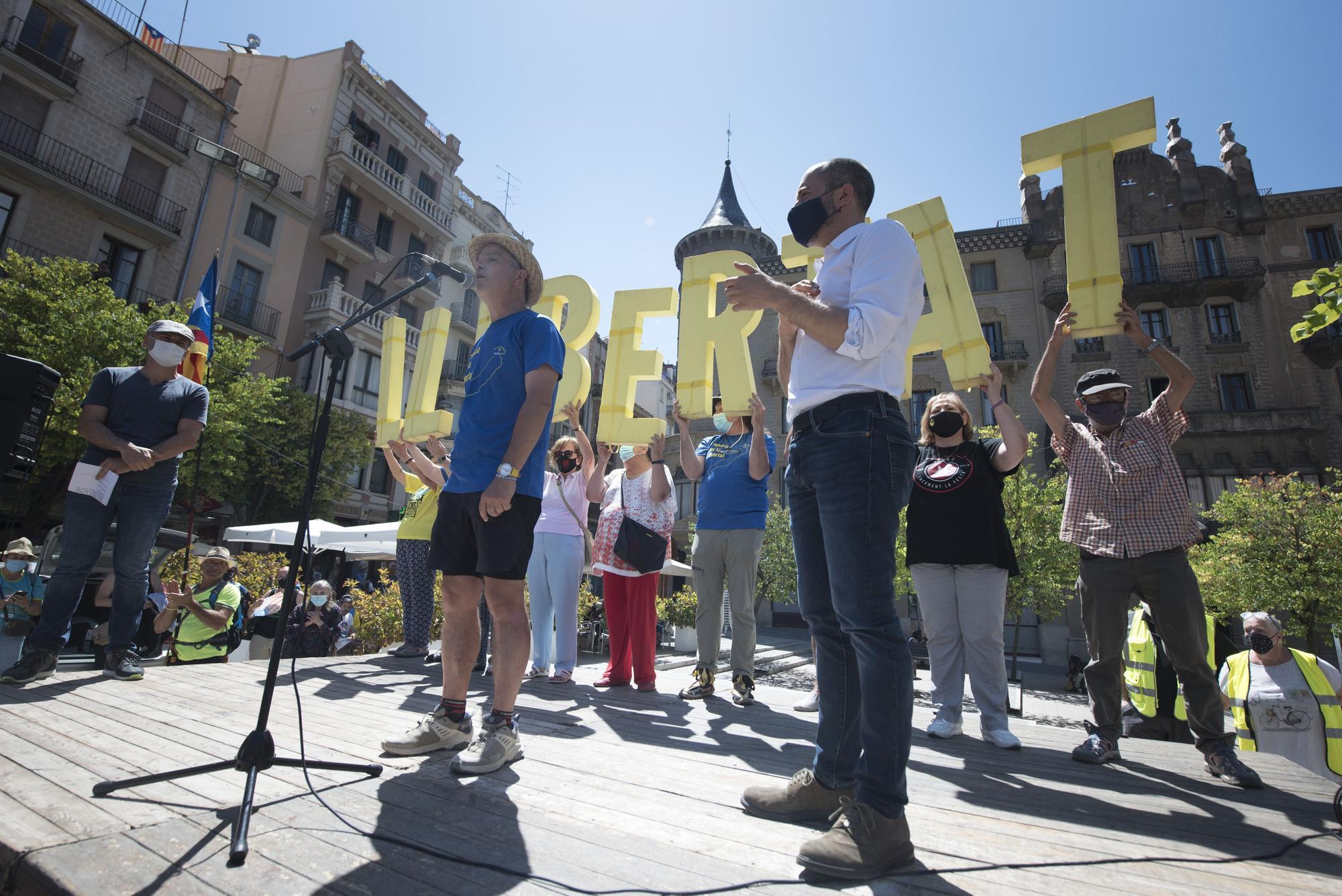 Pere Aragonès visita Manresa i rep a Jordi Turull
