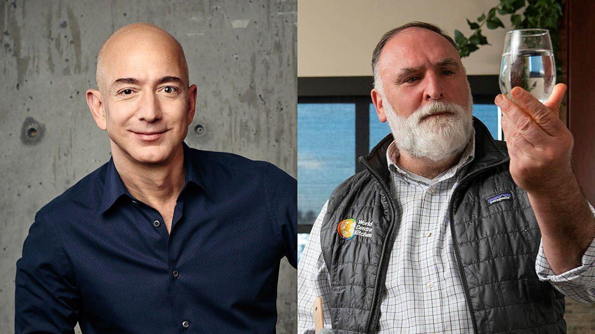 Jeff Bezos y José Andrés.