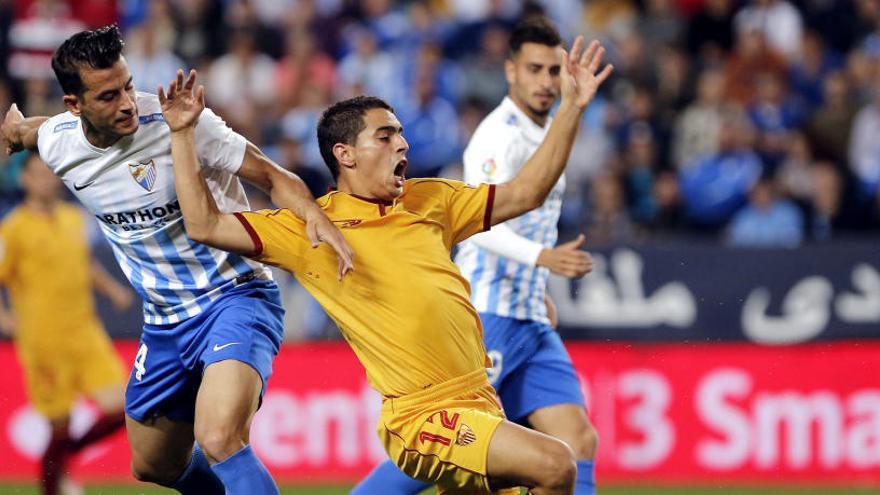El Málaga doblega al Sevilla en el derbi andaluz
