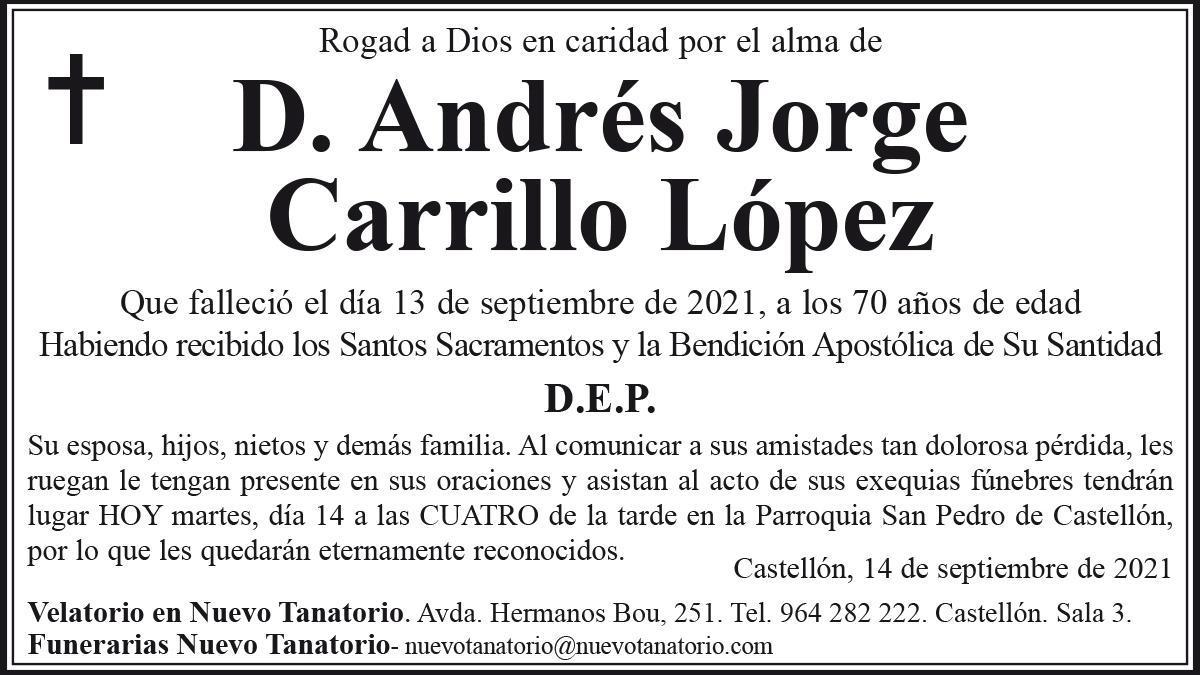 D. Andrés Jorge Carrillo López