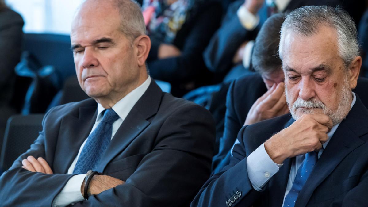 Chaves y Griñán, durante el juicio del caso de los ERE.