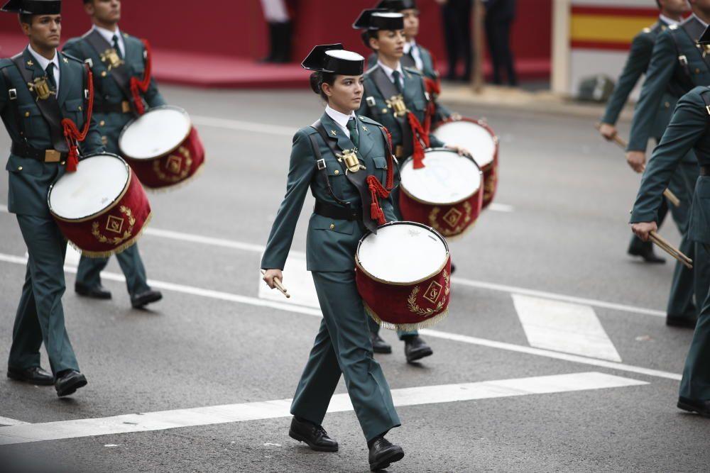 Grupo de Guardias Civiles en el desfile del 12 ...